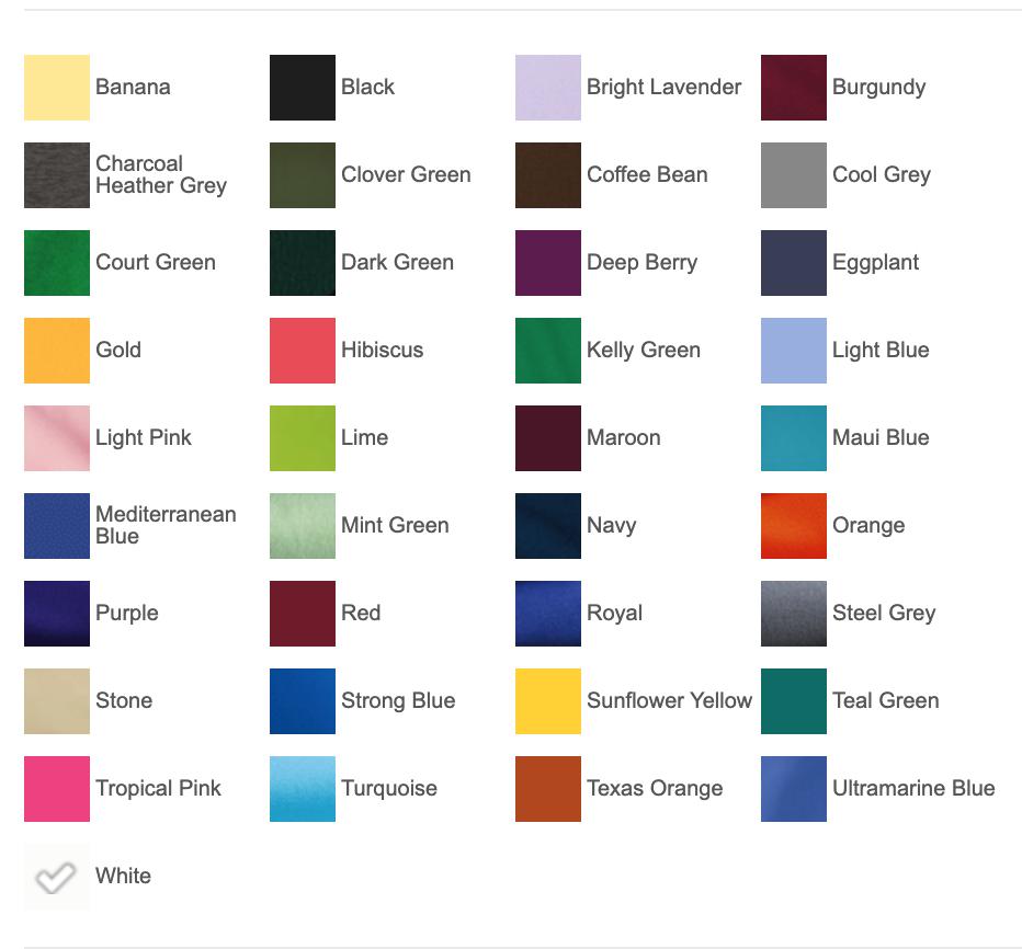 K500 Colors